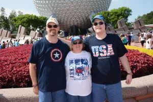 Maureen and Family at Epcot