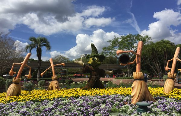 Fantasia topiaries, located at Future World