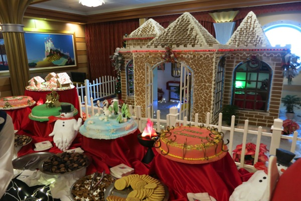 my most recent very merrytime cruise coincided with christmas day itself we woke up to a bountiful array of cocoa cookies and cakes all displayed beside