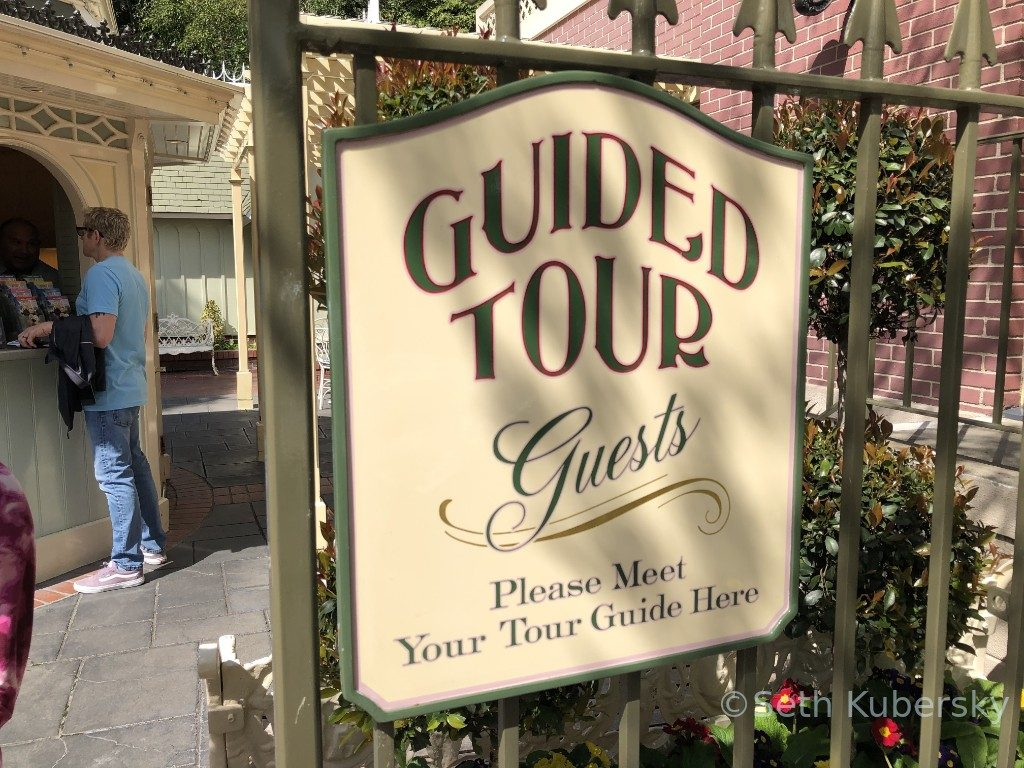 Walk in walt's Footsteps guided tour sign
