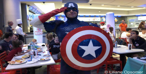Captain America Dinner Banner IOA