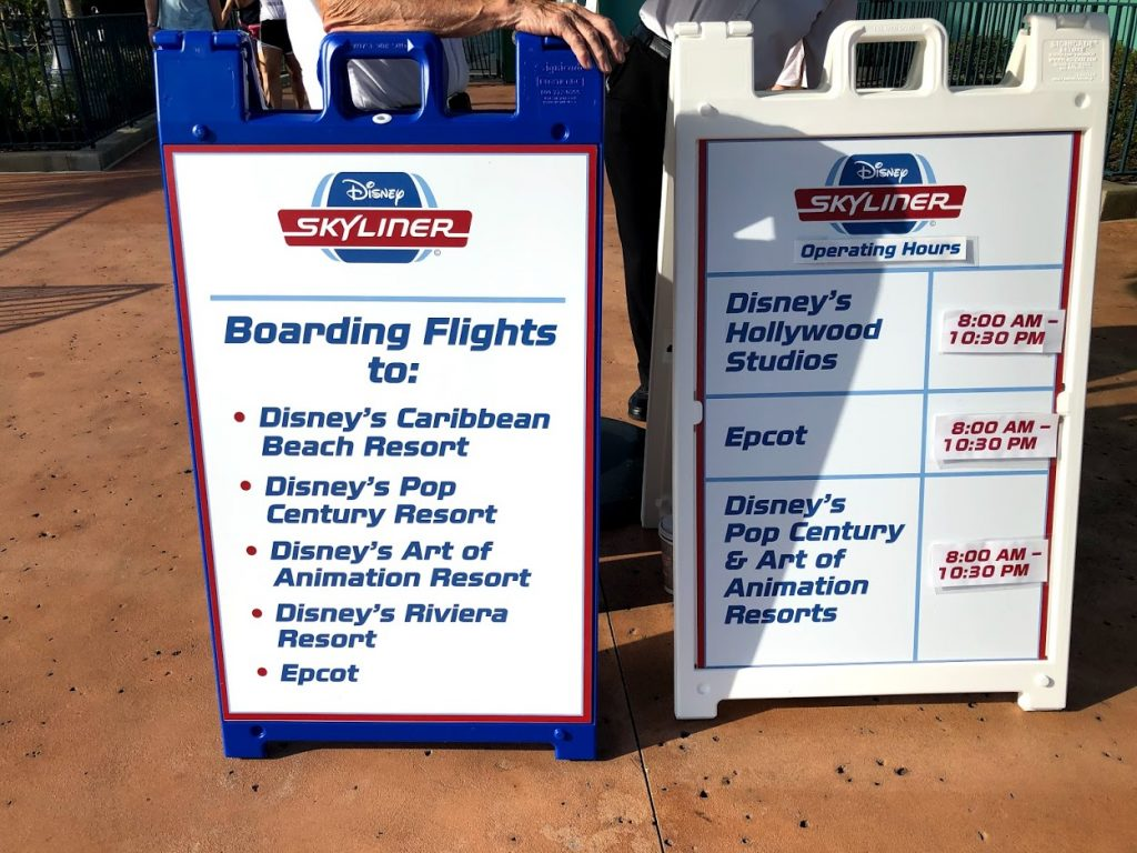 Disney Skyliner operating hours