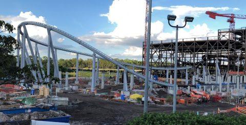 Tomorrowland PeopleMover Tron coaster construction