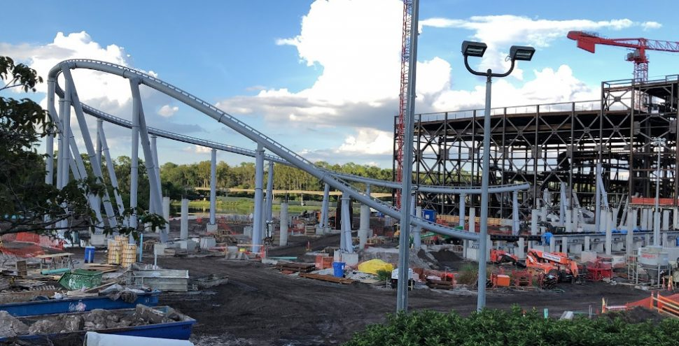 Tomorrowland PeopleMover Tron coaster construction