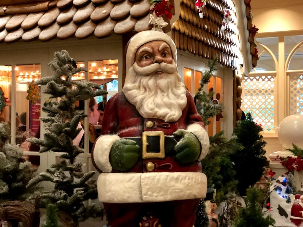 Walt Disney World Resort 2019 gingerbread house Grand Floridian Santa