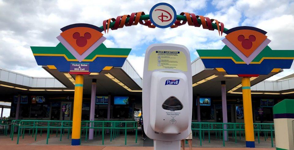 Covid-19 theme parks WDW sanitizer