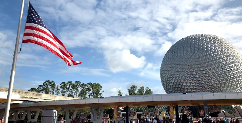 Disney Epcot flag featured