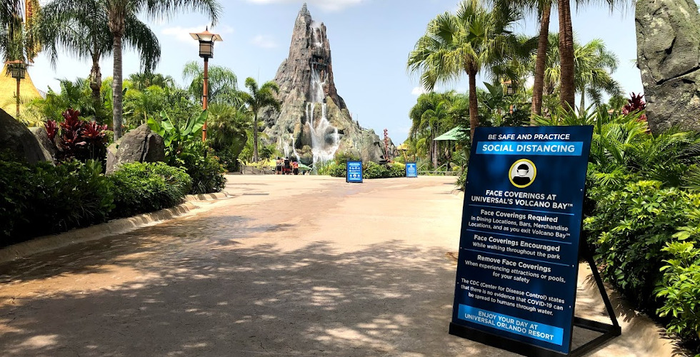 Socially Distanced Universal Orlando Volcano Bay featured