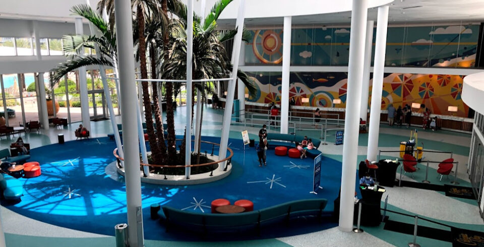 Socially Distanced Universal Orlando hotels Cabana Bay lobby featured
