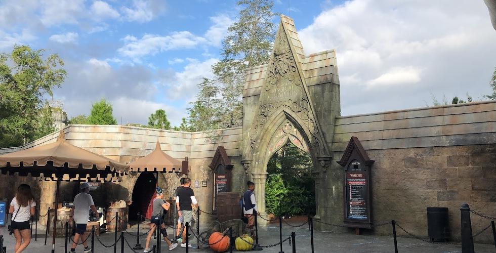 IOA Hagrid entrance
