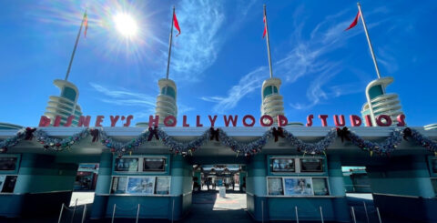 Disney's Hollywood Studios 2020 Christmas entrance featured