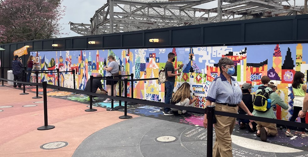 Epcot 2021 Festival of the Arts final day Expression Section mural featured
