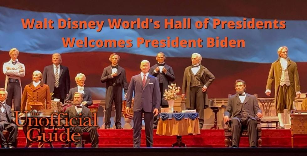 Walt Disney World's Hall of Presidents Welcomes President Biden