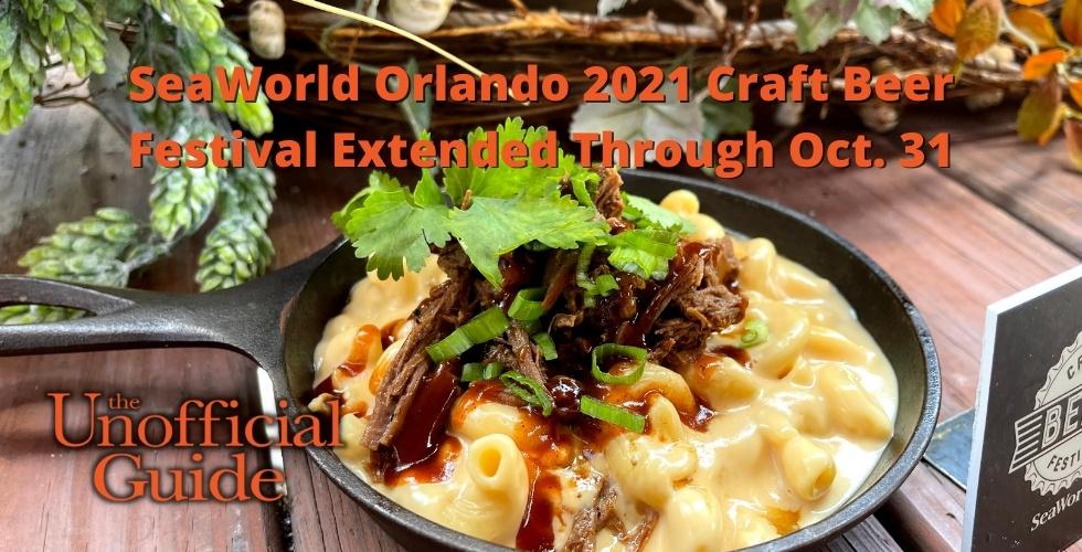 SeaWorld Orlando 2021 Craft Beer Festival Extended Through Oct. 31