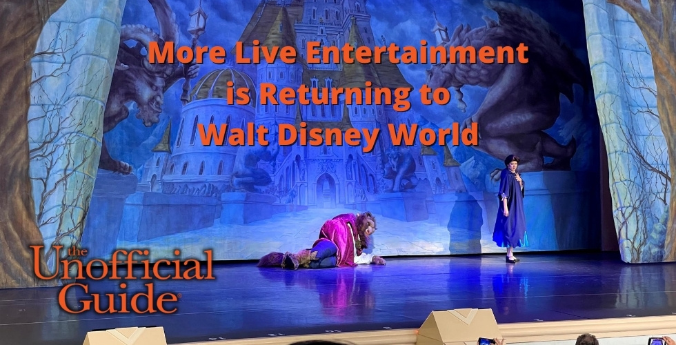 Live Entertainment is Returning to Walt Disney World